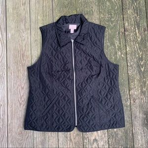 Chico's Black Quilted Lightweight hunting Vest